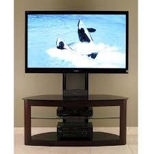 flat screen tv furniture ideas. transdeco glass tv stand with mounting system for 3565 inch screens espresso flat screen tv furniture ideas