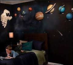 outer space bedroom decor