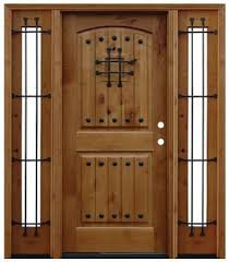 prefinished entry doors. pre-finished alder rustic wood entry door with sidelites 60.5\u2033x80\u2033 prefinished doors r