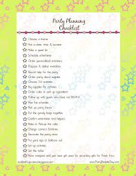 Party Checklist Printable Trials Ireland