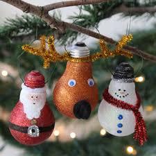 Creative Ideas - DIY Light Bulb Christmas Ornaments --> Glittery Light Bulb  Ornament