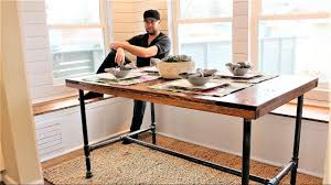 Diy Industrial Desk The Industrial Farm Table Diy Project Youtube