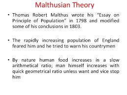 lecture  malthusian
