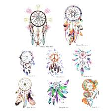 Colorful Dream Catcher Tumblr template Dreamcatcher Tattoo Template Buy Colorful Feather Wind 52