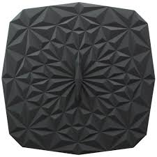 rectangular suction 9x9 silicone lid in black