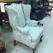 Leather Wingback Chair For Sale Vintage Wing Back Chair Thrift Score Thrift Diving Blog