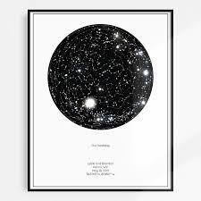 Personalized Star Chart The Minimalist