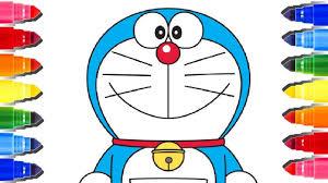 Learn Colors By Coloring Doraemon L Doraemon Coloring Pages Kids