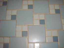 Blue Tiled Bathrooms Replicating Alices Blue 50s Bathroom Tile Floor Toilets