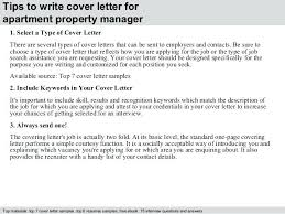 Apartment Manager Job Apartment Property Manager Cover Letter Best ...