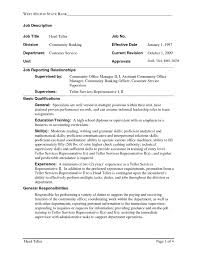 objectives for jobs resume samples for bank teller jobs valid teller resume sample
