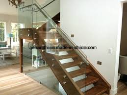 modern design low cost glass stair railing balcony frameless glass barade with standoff fixing glass stair stair handrail glass