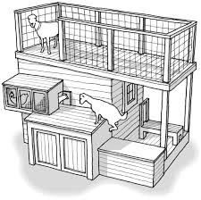 Goat shelter plans shed front newfangled the