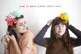 Paper Flower Hats Diy Floral Party Hats Harvesting Love Events