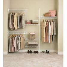 white closet organizer kit 6 shelf 5 8 ft clothes storage metal