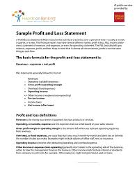 operating statement format profit and loss statement free download edit fill