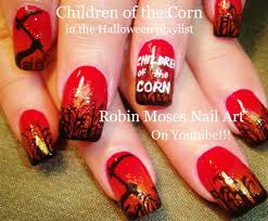 DIY Halloween Nail Art Design Tutorial | Children of the Corn ...