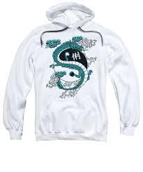 Japanese Dragon Yinyang Water Waves Sweatshirt