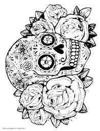Looking for christmas coloring pages? Skulls And Roses Coloring Pages Coloring Pages Printable Com