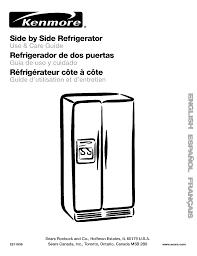 How To Level A Kenmore Refrigerator Kenmore Refrigerator 106 User Guide Manualsonlinecom