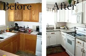 Paint Kitchen Cabinets Before And After Magnificent Painting Oak Cabinets White Before And After Painting Wood Kitchen