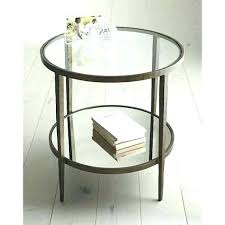 glass side table round metal glass end tables metal glass side table round side table shelves