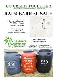 barrel size ongoing rain barrel sale go green together