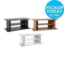 tv unit argos. home large wooden up to 32 inch tv unit stand - black/oak/white tv argos