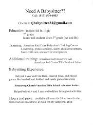 babysitter resume sample best business template resume babysitter resume format pdf inside babysitter resume sample 3482