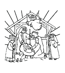 Religious Christmas Coloring Pages About Best Ideas On And Pictures