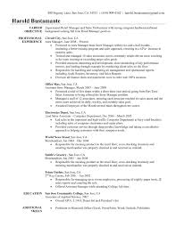 Resume Objectives For Management Positions Career Objective Resume