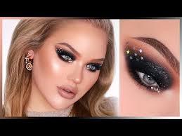 sparkly black nye smokey eyes in depth makeup tutorial