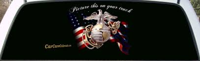 Marine Corp Black Background Pickup Graphic 1 Size Fits Most. Salute ...