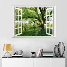 Uniquebella Vinyl Mauer 3d Fensterblick Selbstklebende Wandsticker