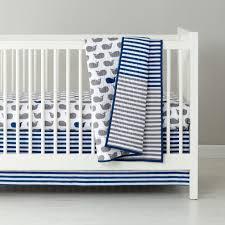 Baby Bedding: Grey Blue Whale Crib Bedding | The Land of Nod &  Adamdwight.com