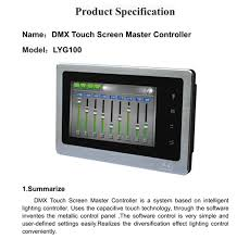 intelligent lighting controls lightmaster lilianduval ng new dmx touch screen light master controller for led smart