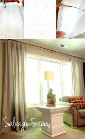 drop cloth curtains outdoor source diy outdoor curtain rods so inexpensive uses chain link fencing