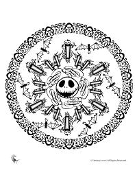 Jack Skellington Halloween Mandala Halloween Mandala Coloring