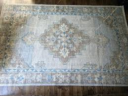 pottery barn wool rug details about pottery barn hand knotted wool rug 8 x blue brown