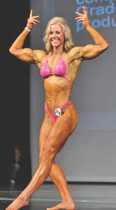 Amateur female body builder