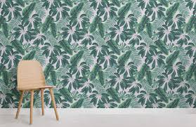 mixed tropical leaves room wall murals