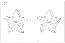 printable star 3d star printable templates coloring pages firstpalette com