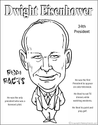 Small Picture Dwight Eisenhower Coloring Page Coloring Pages Pinterest