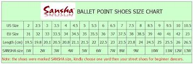 Gamba Pointe Shoes Size Chart Pointe Shoes For Beginners