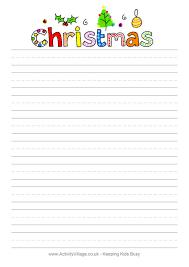 christmas writing paper christmas design writing paper