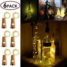 wine lighting. Amazon.com : Wine Bottle Cork Light, 6 Pack 30inch/75cm 15 LED Siliver Wire Lights For DIY, Wedding, Christmas, Halloween, Party Decoration Or Mood Lighting R