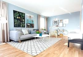 light blue and grey living room with wooden futon gray white ideas