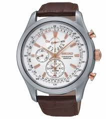 seiko chronograph men s perpetual calendar rose gold tone brown seiko chronograph men s perpetual calendar rose gold tone brown leather strap watch