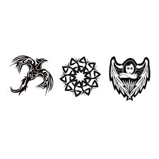 Mixed Tattoo Pack Of 3 Temporary Tattoos Angel Tattoo Eagle Tattoo Ornament Tattoo Tribal Tattoo