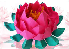 How To Make Big Lotus Flower From Paper Diy Paper Crafts How To Make An Easy Origami Paper Lotus 9 Steps